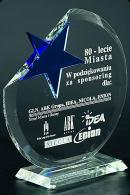 Trophée en verre : Cercle étoilé