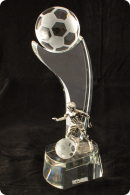 Trophée en verre : Ballon football 2