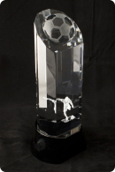Trophée en verre : Ballon football 3