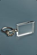 Trophée en verre :  Porte-clés plat