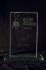 Trophée en verre : Plaque
