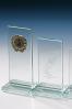 Trophée en verre : Plaque rectangulaire en verre