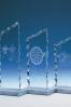 Trophée en verre : Plaque gelé 2