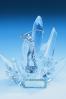 Statuette glaciale en verre