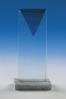 Trophée en verre rectangulaire
