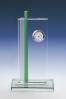 Plaque en verre avec montre