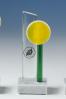 Trophée en verre : Plaque décorée
