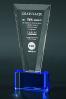 Trophée en verre : Obélisque bicolore