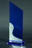Trophée en verre : Plaque bicolore