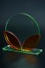 Trophée en verre coloré