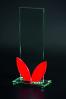 Trophée rectangulaire avec verre rouge