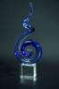 Spirale artistique en verre