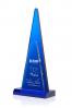 Piramide en verre bleu