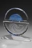 Trophée en verre : Double sphères