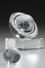 Trophée en verre : Sphère terrestre