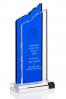Trophée en verre : Deux plaques
