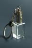 Trophée en verre : Porte-clés cube
