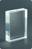 Trophée en verre : Plaque en verre