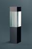 Trophée en verre : Cube en verre noir/transparent