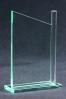 Trophée en verre : Plaque coupée