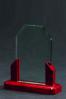 Plaque de verre avec base en bois