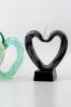 Trophée en verre : Coeurs colorés en verre