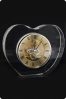 Horloge massive en verre