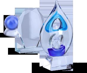 Trophées de verre